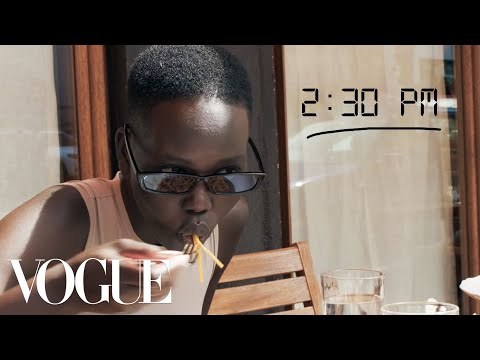 Adut Akech's Prada Show Getting Ready Routine | Diary of a Model | Vogue