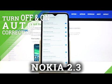 How to Enter Auto Correction Option in NOKIA 2.3