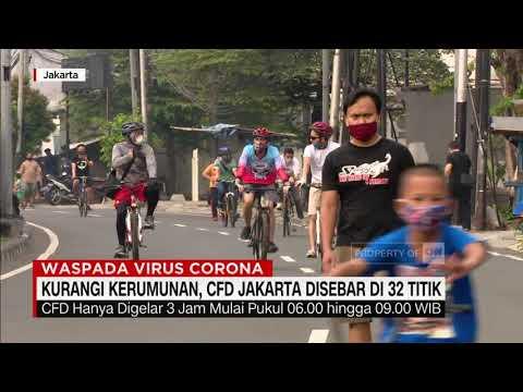 Kurangi Kerumunan, CFD Jakarta Disebar Di 32 Titik