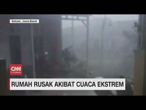 Hujan Deras dan Angin Kencang Porakporandakan Belasan Rumah di Bekasi