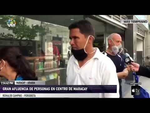 Aragua - Gran afluencia de personas en el centro de Maracay en busqueda de provisiones - VPItv