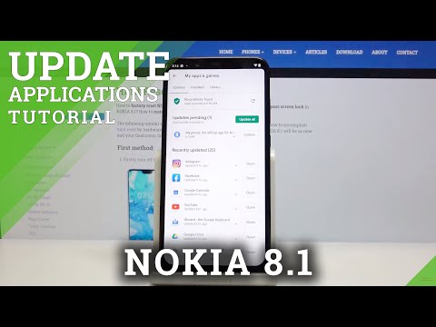 How to Update Apps in NOKIA 8.1 - Find Newest Updates