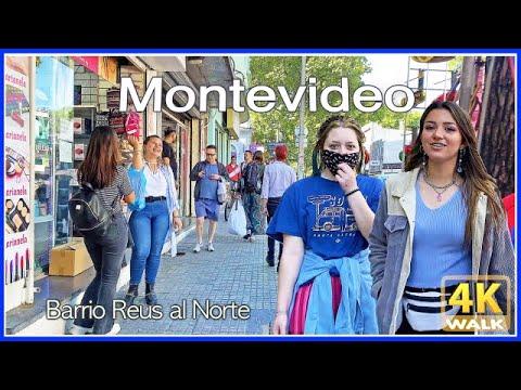 【4K】WALK Montevideo Uruguay BARRIO REUS 4k video Travel vlog