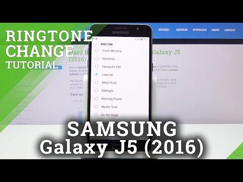 How to Change Ringtone in SAMSUNG GALAXY J5 (2016) - Ringtones List