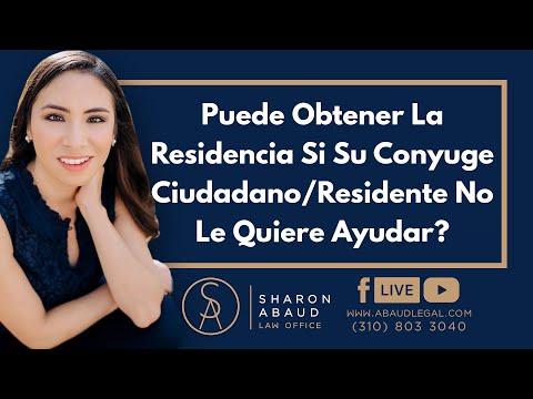 🔴 Puede Obtener La Residencia Si Su Conyuge Ciudadano/Residente No Le Quiere Ayudar?