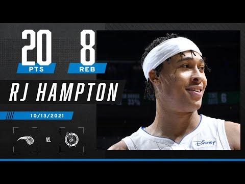 R.J. Hampton puts up 20 PTS & 8 REB on the Boston Celtics