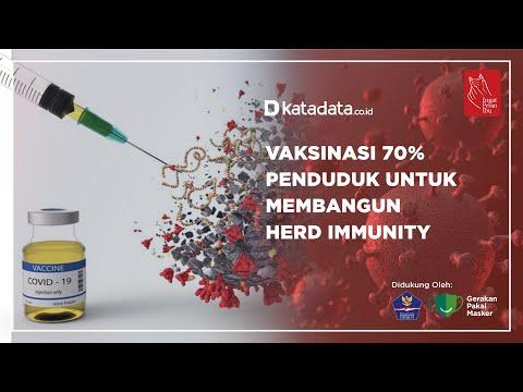 Vaksninasi 70% Penduduk Untuk Membangun Herd Immunity | Katadata Indonesia