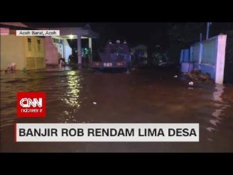 Banjir Rob Rendam Lima Desa di Aceh Barat