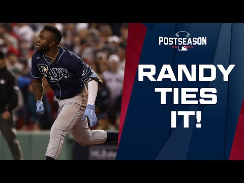 RANDY-TOBER! Randy Arozarena comes up clutch AGAIN, hits a game-tying double in the 8th inning!