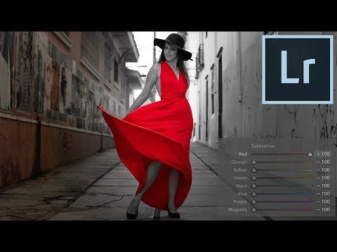 Adobe Lightroom Tutorial: How to Isolate Color with HSL (Black White Pop)