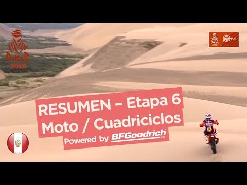Resumen - Moto/Cuadriciclos - Etapa 6 (Arequipa / San Juan de Marcona) - Dakar 2019