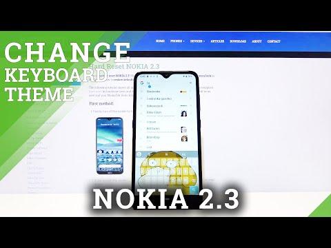 How to Change Keyboard Theme in Nokia 2.3 - Keyboard Settings