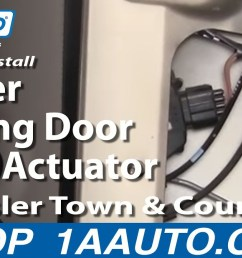 how to install replace power sliding door lock actuator chrysler town and country 01 07 [ 1920 x 1080 Pixel ]