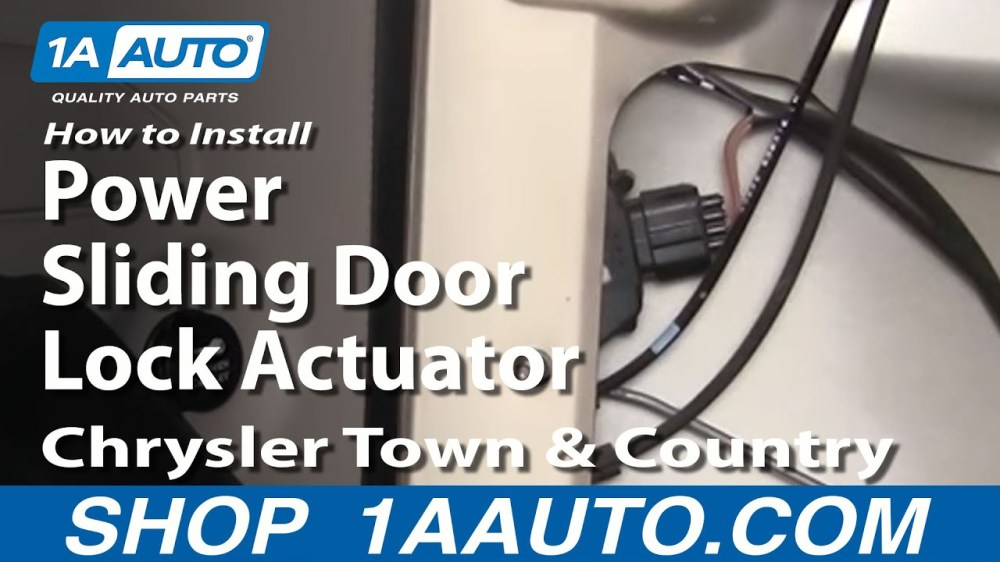 medium resolution of how to install replace power sliding door lock actuator chrysler town and country 01 07