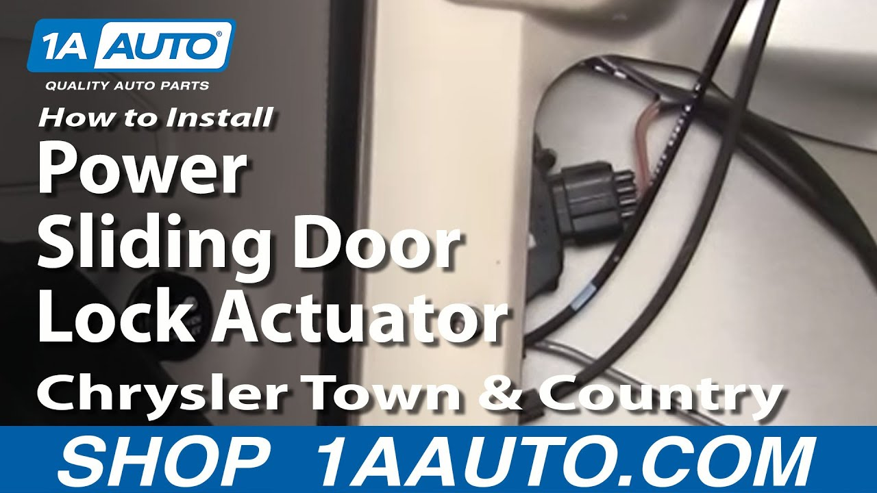 hight resolution of how to install replace power sliding door lock actuator chrysler town and country 01 07