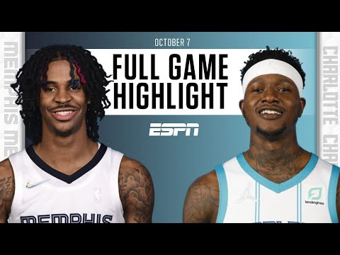 Memphis Grizzlies at Charlotte Hornets   Full Game Highlights