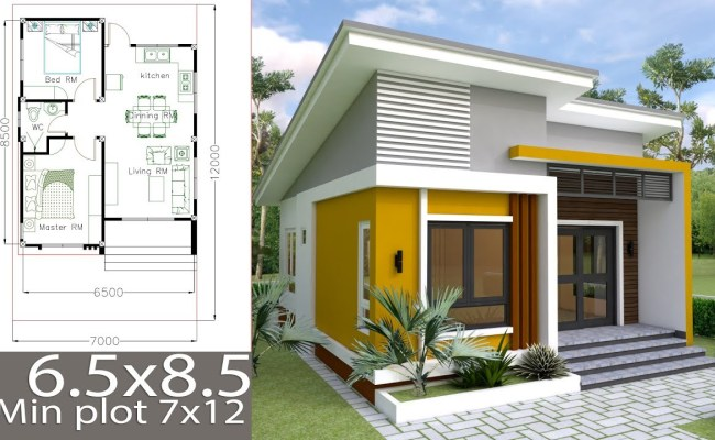 Small Home Design Plan 6 5x8 5m With 2 Bedrooms Racer Lt