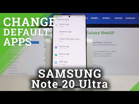 How to Change Default Apps in SAMSUNG Galaxy Note 20 Ultra – Find Default App Section