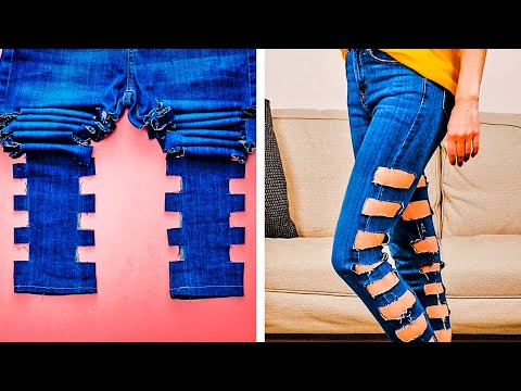 38 CRAZY JEANS HACKS YOU MUST KNOW