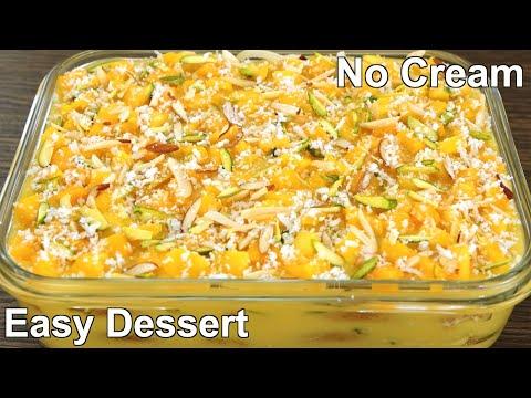 Mango Milk dessert with 1/2 liter milk   easy Sweet dessert Recipe