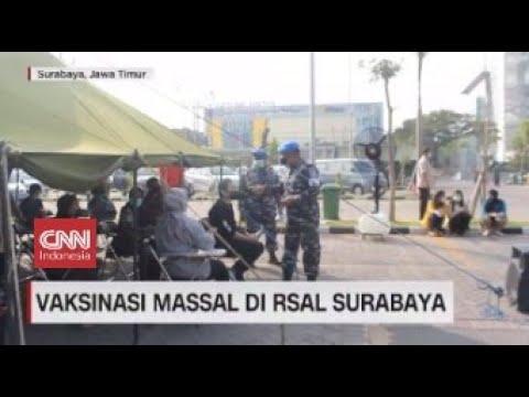 Serbuan Vaksin, 350 Warga Antre Vaksin Di RSAL DR Ramelan Surabaya