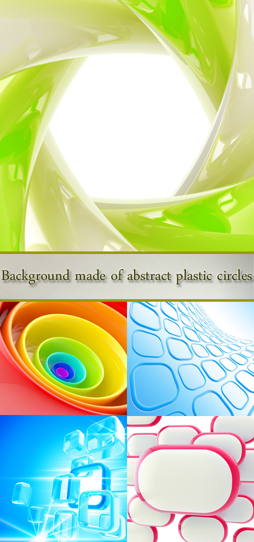 Stock Photo: Background made of abstract plastic figures
