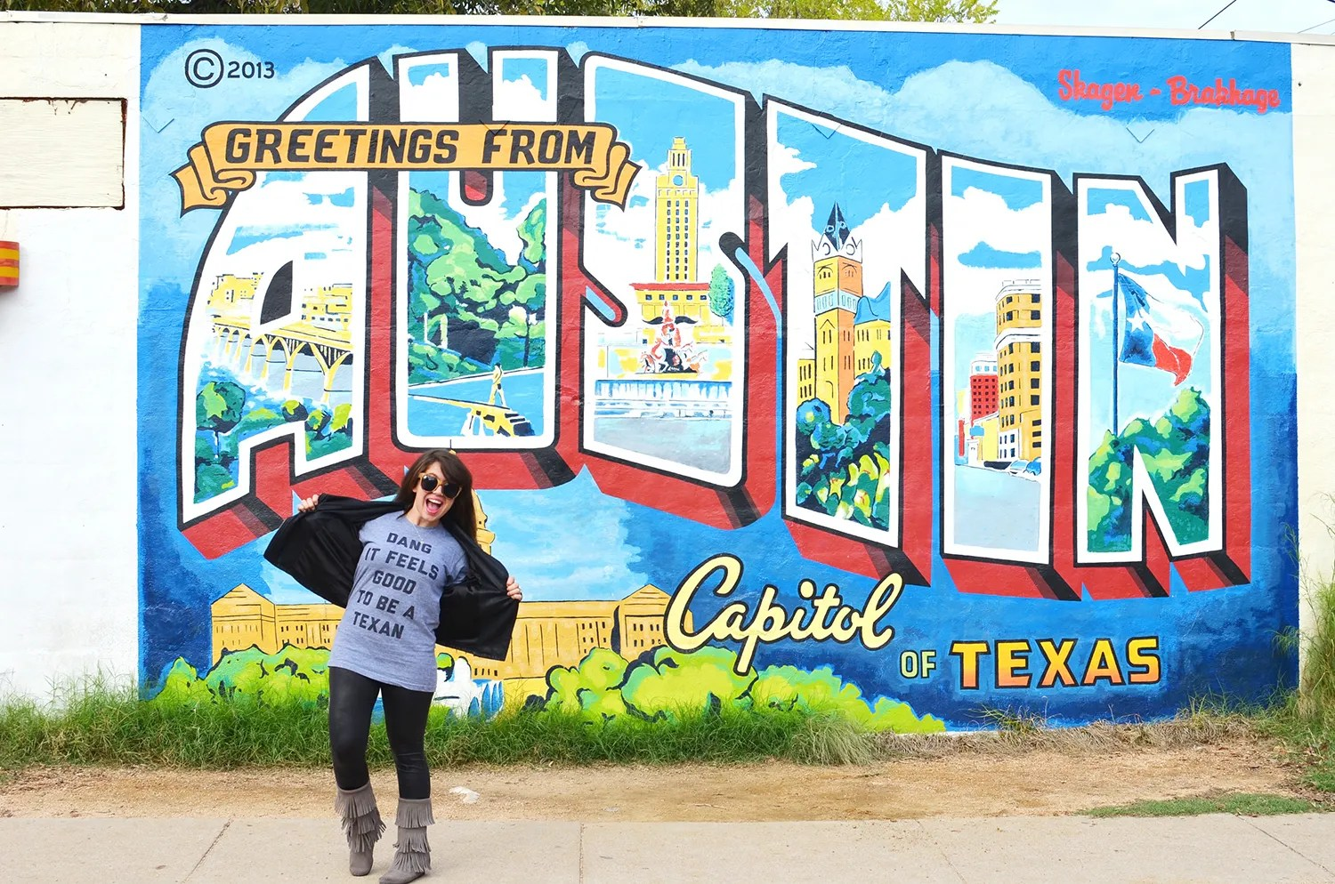 Greetings from austin grrfeisty greetings from austin mural m4hsunfo