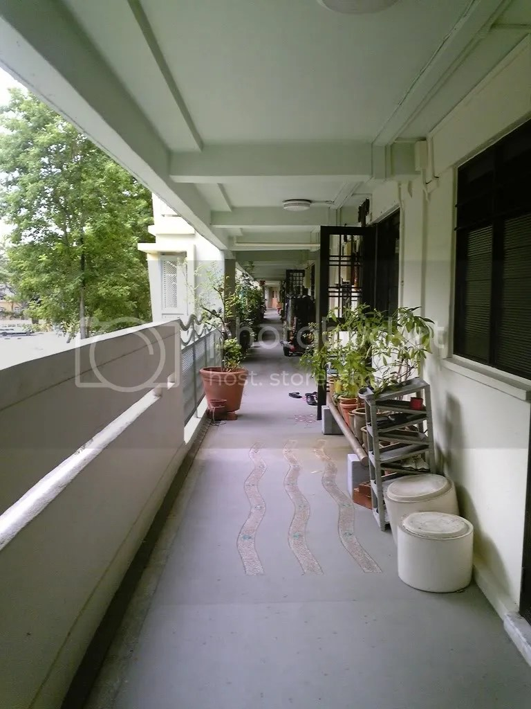 The corridor of the block where I used to live