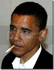 Barry Obama auditioning for the role of Smoker In Chief