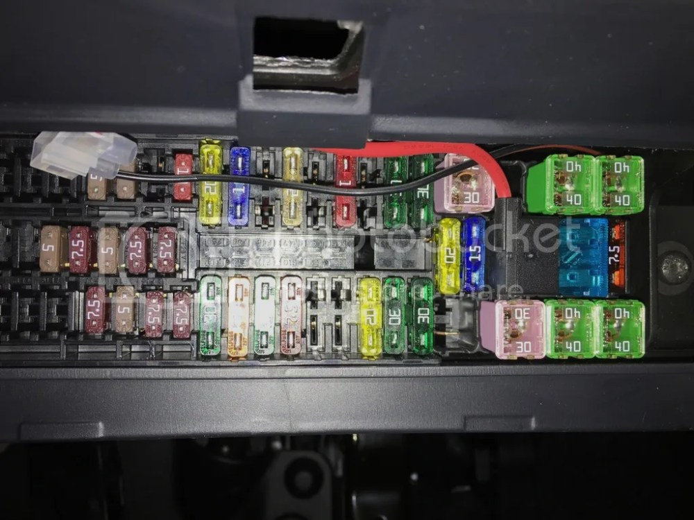 medium resolution of this is the fuse box from my 2016 polo gti with piggy back fuse for my