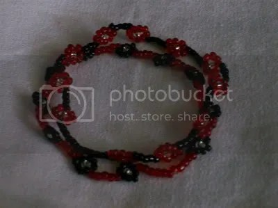 red, black, clear