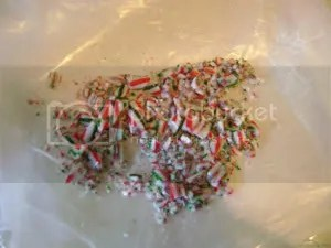 Demolished candy canes