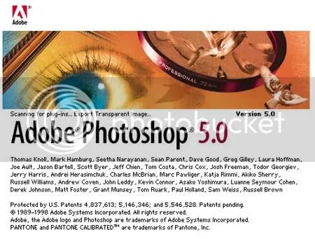 SPLASH. Relativo impacto visual para la versión 5.0 del Photoshop.