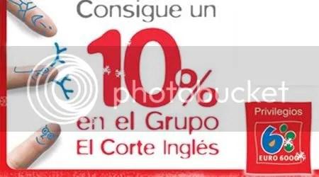 PUBLICIDAD. 10% que en realidad es 5% y sobre gastos mayores a 300 Euros.