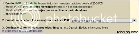 Cómo configurar GMail para que archive los correos ya descargados por el cliente POP3.