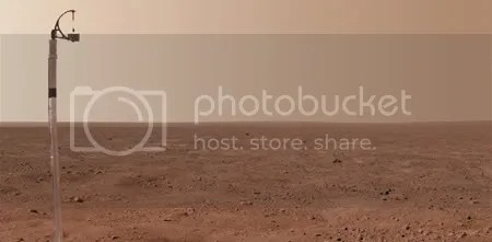 GRANDE. Un cropeado (recorte) de la composición de imágenes enviadas por el Phoenix a la NASA.
