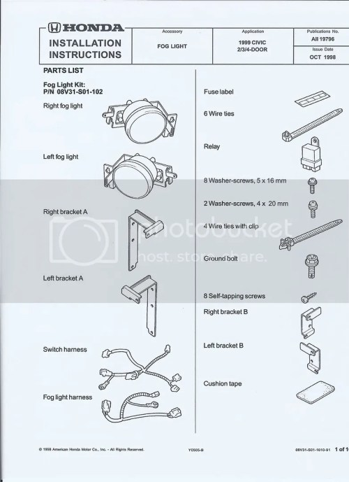 small resolution of civic fog light wiring diagram wiring diagrams