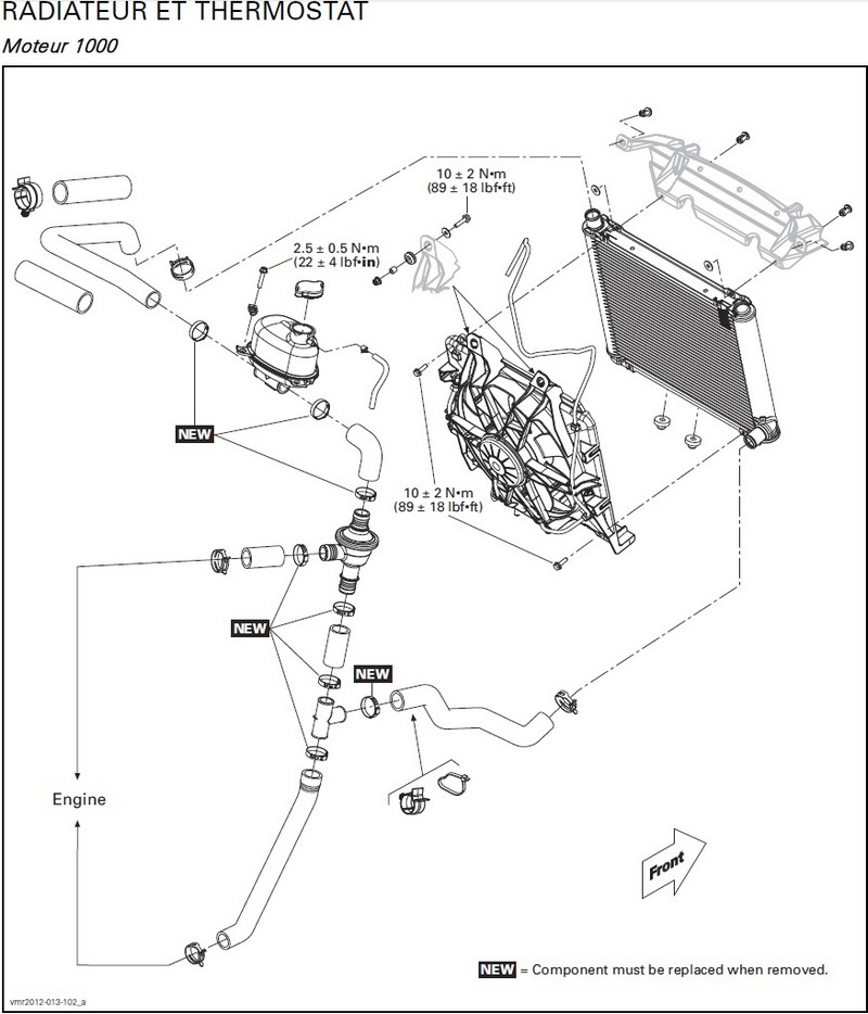 Can Am Outlander Radiator Relocation Kit Can-Am XMR 1000