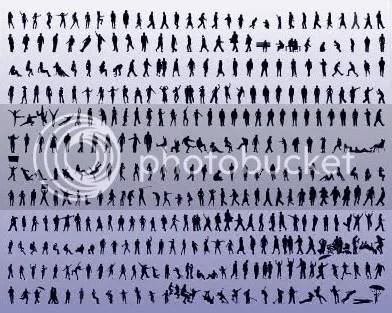 1000 Siluetas en Vectores
