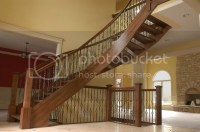 Curved Stair,open Rise Stair,iron Balusters Photo by ...