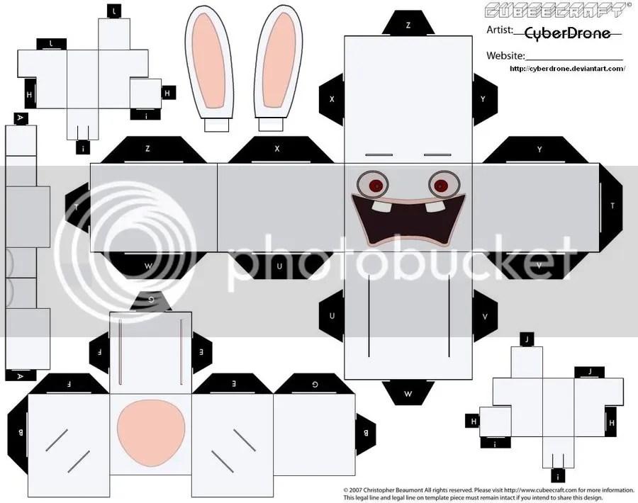Rayman rabbid Cubeecraft