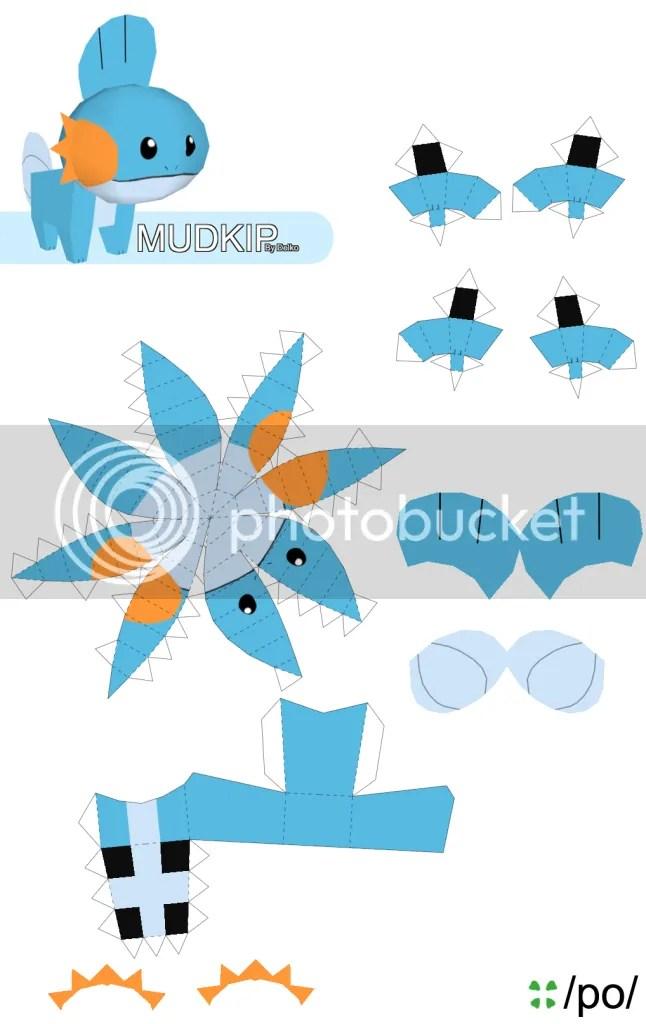 mudkip papercraft