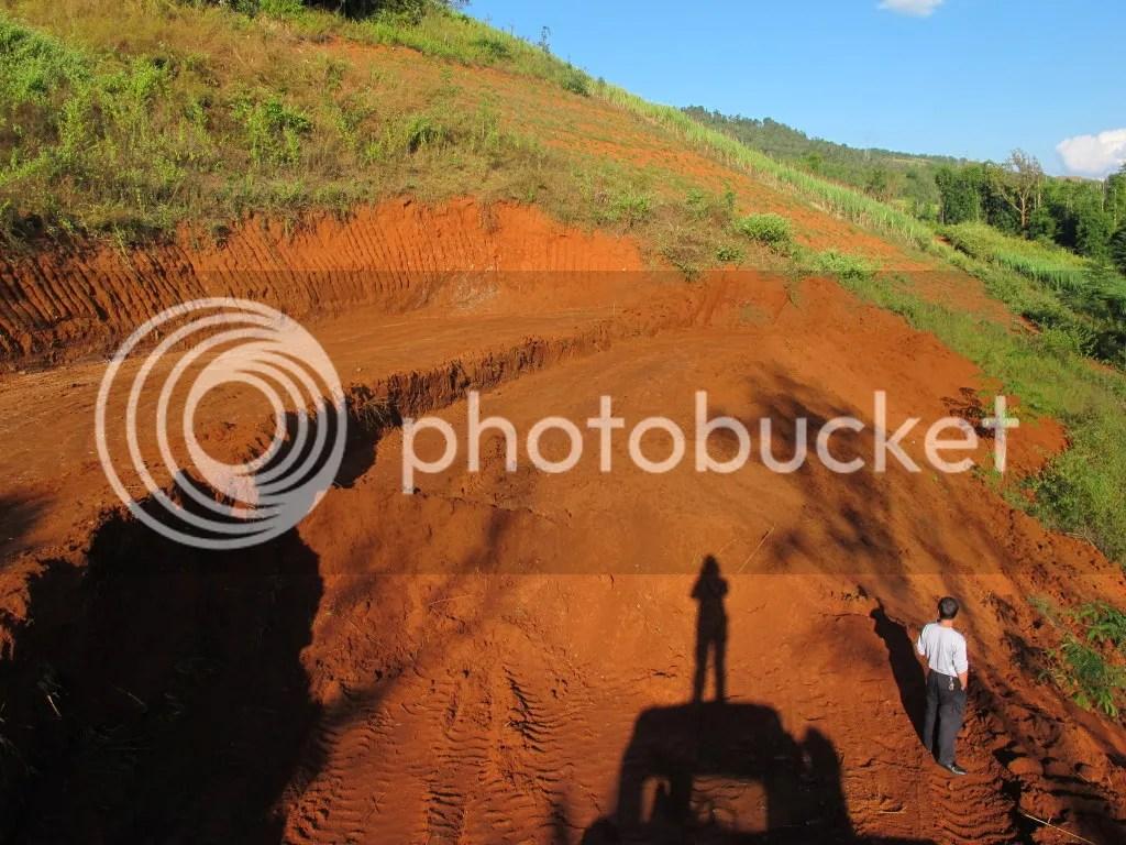 zicht vanaf de bulldozer