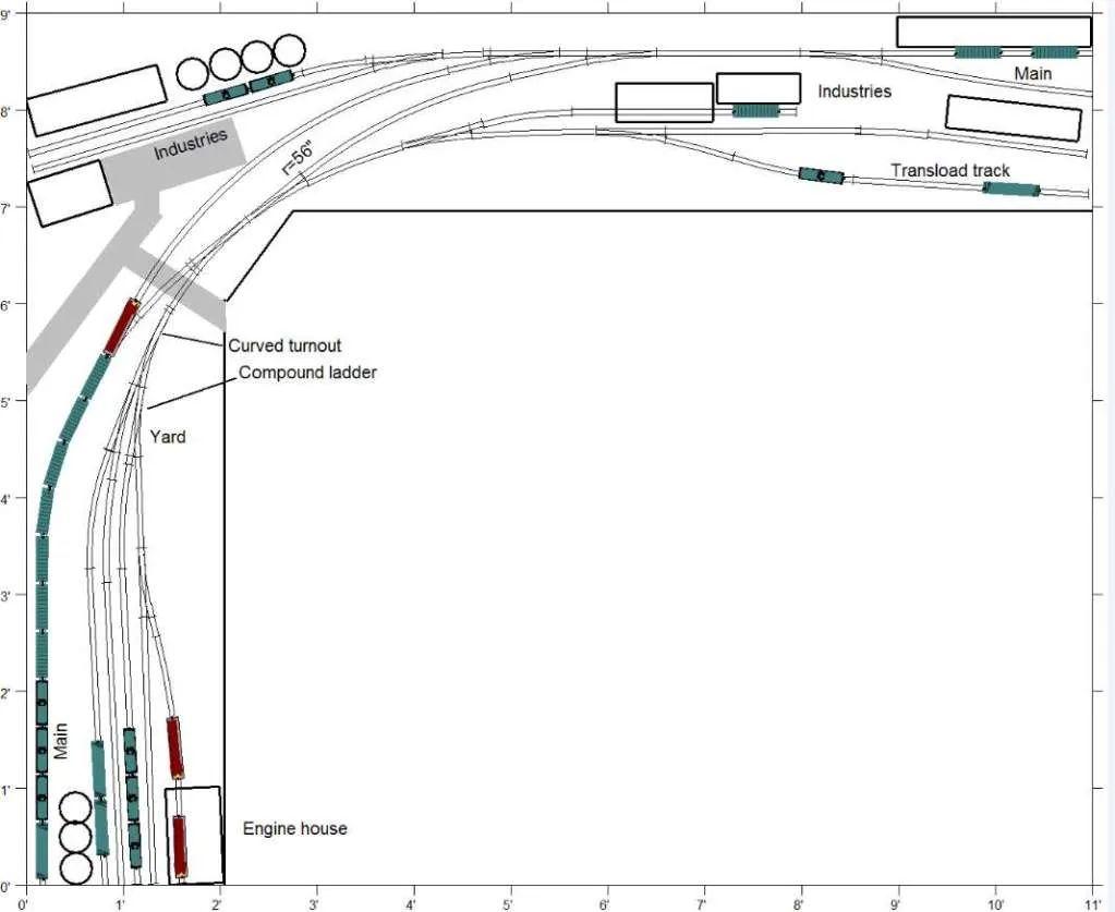 ho modular track plans
