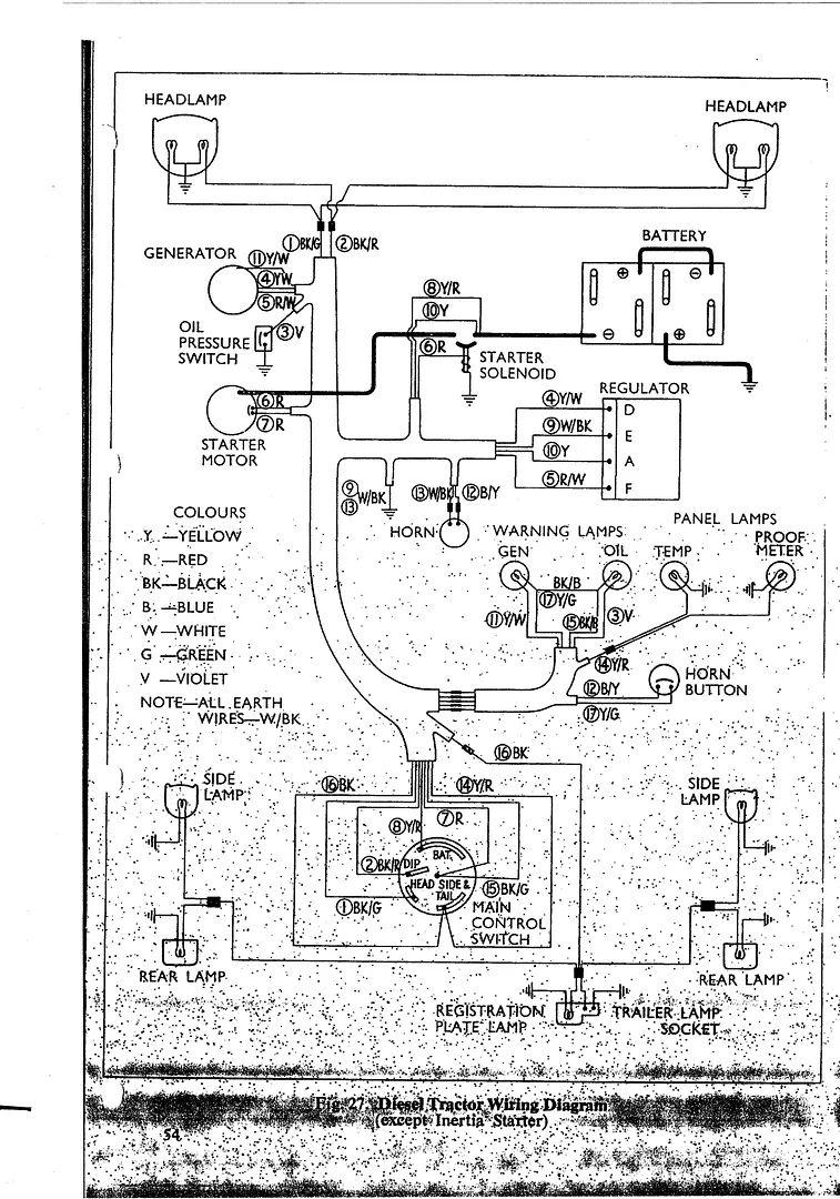 tractor starter motor wiring