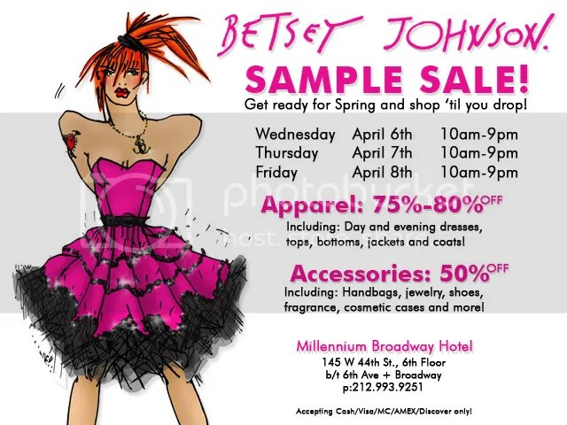 Betsey Johnson,the greyest ghost,sample sale