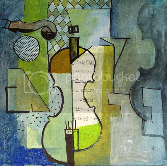Spring Song - Cubist painting