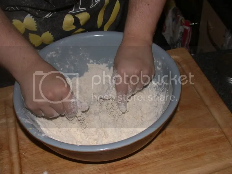 mixing pastry