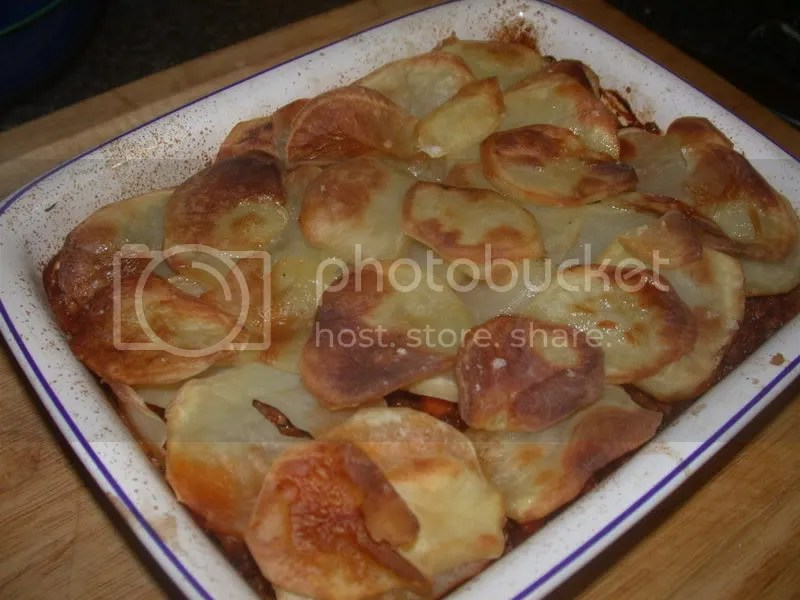 Minced beef and onion hotpot