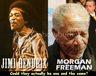 Jimi Hendrix vs Morgan Freeman photo JimiHendrixMorganFreeman-OneTheSame.jpg
